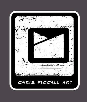 Chris McCall Art Logo Sticker