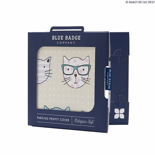 Blue Badge Permit Cover - Cool Cats VAT EXEMPT