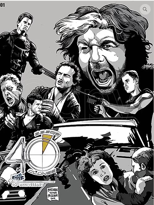 Mad Max 40th Anniversary DVD Plus  Mad Max 40th Anniversary Poster