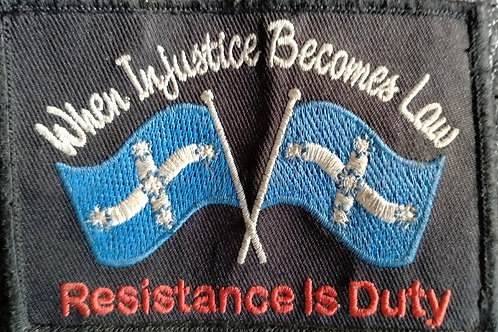 Resistance Is Duty Patch