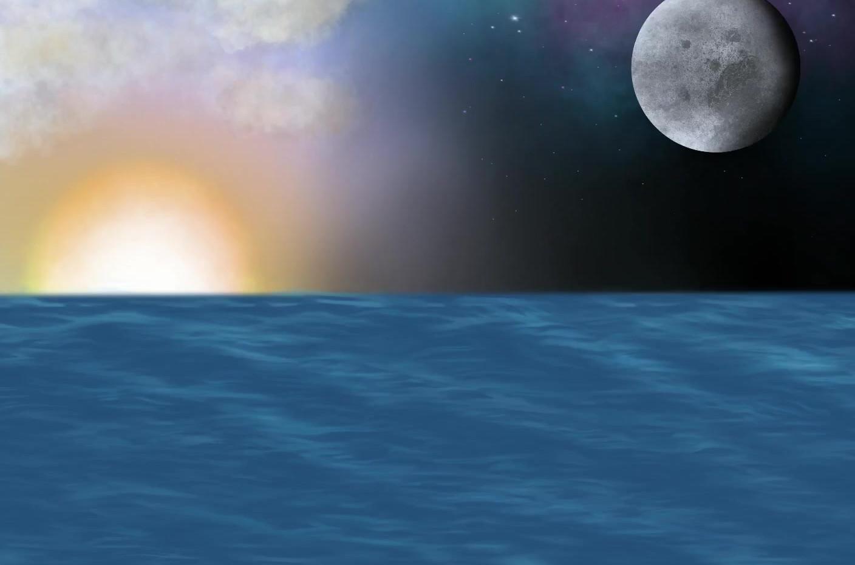 Paintiing Time-Lapse - Midnight Sunset