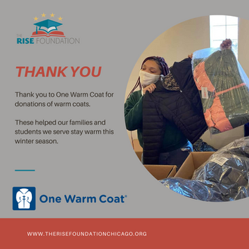 Thank you to One Warm Coat