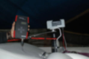 Cronos Audio Slalom signal generator attached to boat pylon