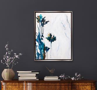 Iris in Inks - 24 x 30