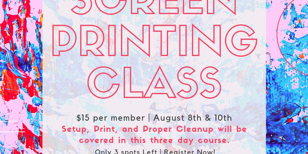 Screen Printing Class