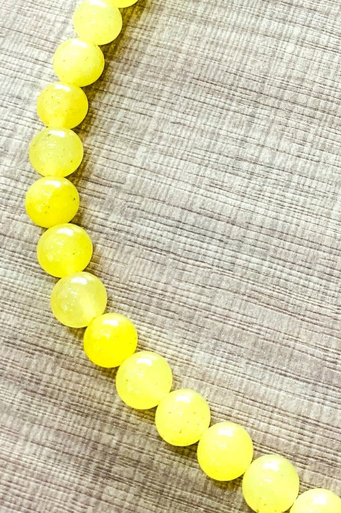 Faceted Yellow Jade