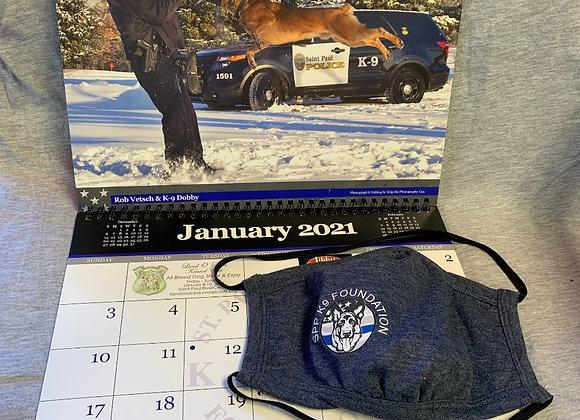New Year Safe & Warm Bundle $40: beanie, mask, 2021 calendar