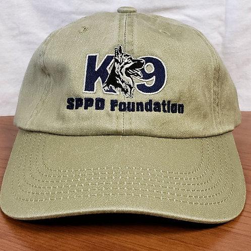 Garment Washed Khaki Cap-K9 centered