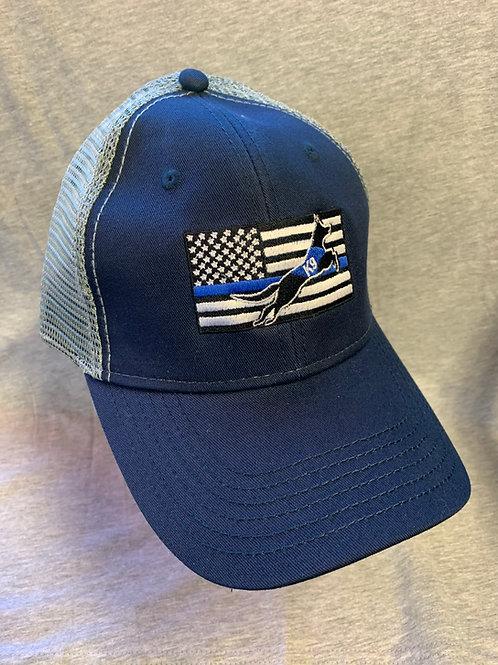 Blue Line Flag Trucker Cap