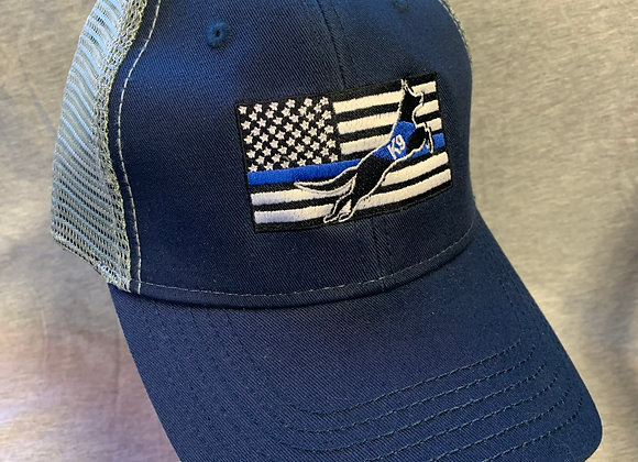 Blue Line Flag Trucker Cap