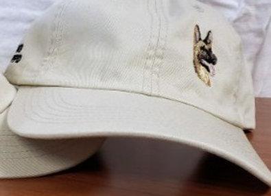 Garment Washed Stone Cap-offset dog logo