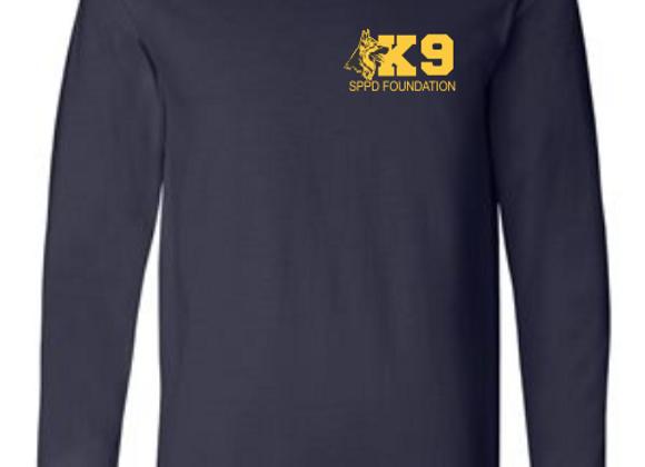 Long sleeve navy T-shirt-big K9 dog
