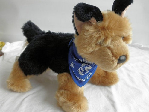 German Shepard Stuffed Dog-with Bandana
