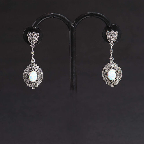 Opal and Marcasite earrings