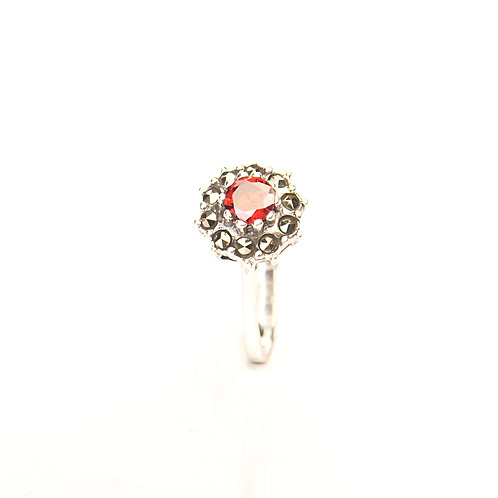Silver and Marcasite Ring
