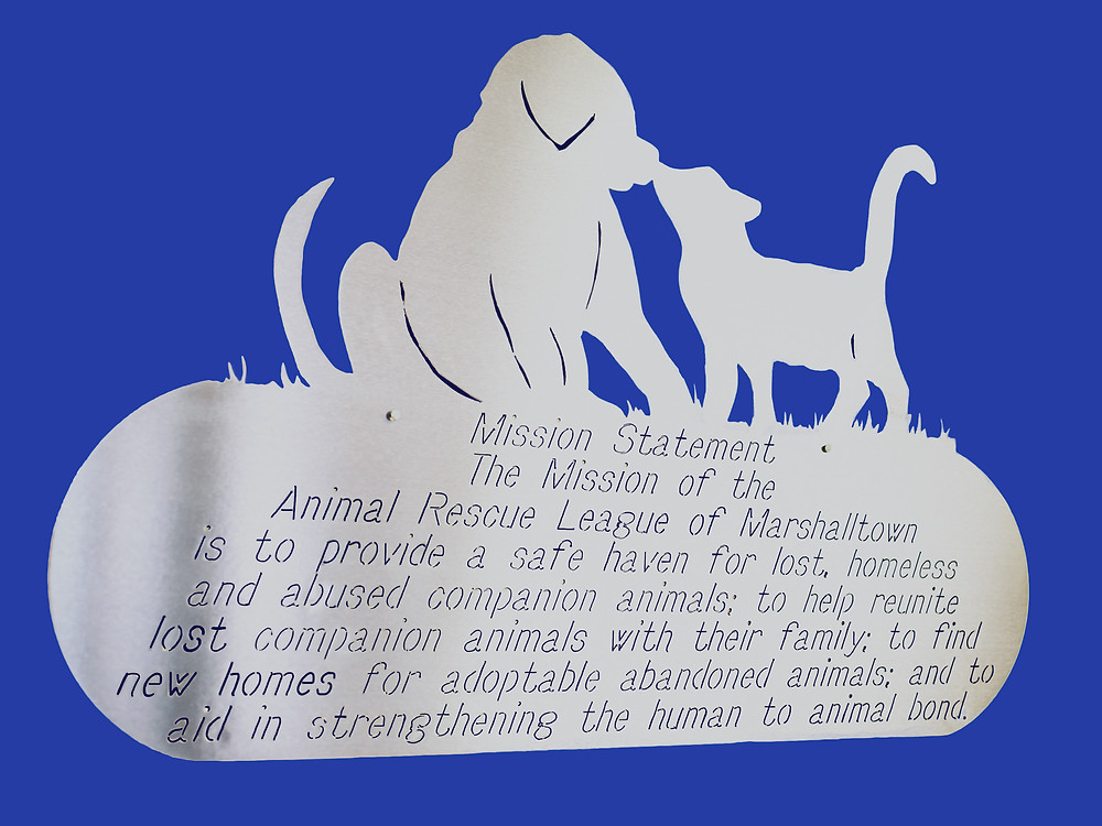 Mission statement sign of ARL of Marshalltown. Image courtesy Hunting the Moon Creative Studios.