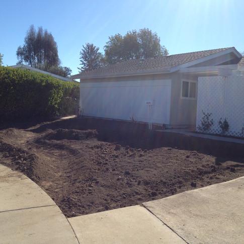 Yard scalped and terraforming has begun.