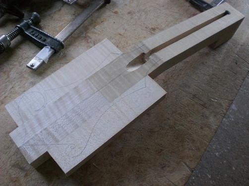 Fabrication d'un manche de F5
