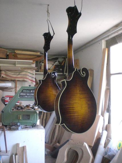 Finition sur deux mandolines F5
