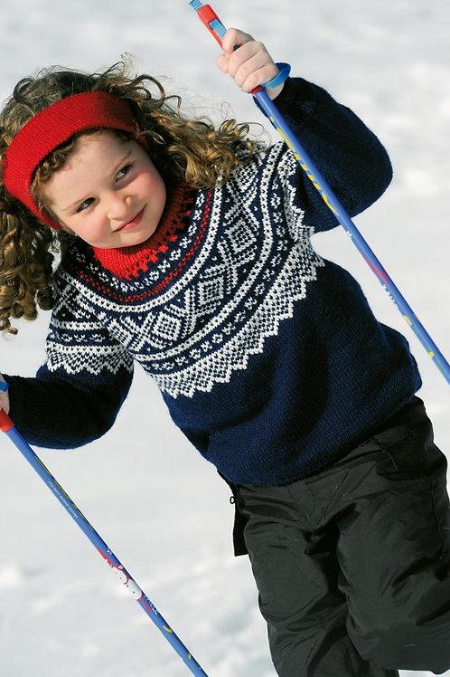 Mariusgenser med rundt bærestykke til barn i 100% Merinoull ,fra kr.354