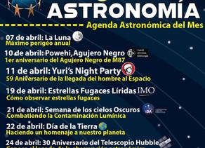 Agenda: Mes Global de la Astronomía