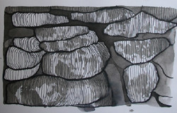 Dry stone wall drawing 2