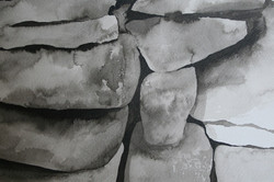 Dry stone wall drawing