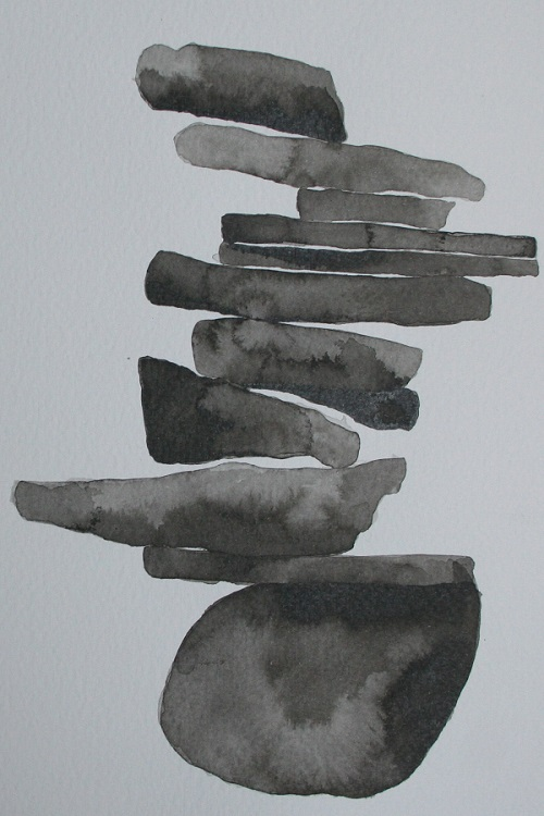 Dry stone wall drawing 3