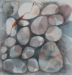 Seaweed and Stone 1     Watercolour