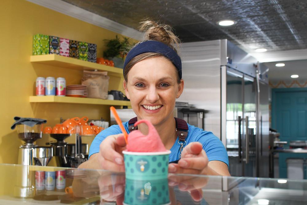 Maria Macrina, gelato maker in Clinton, NY