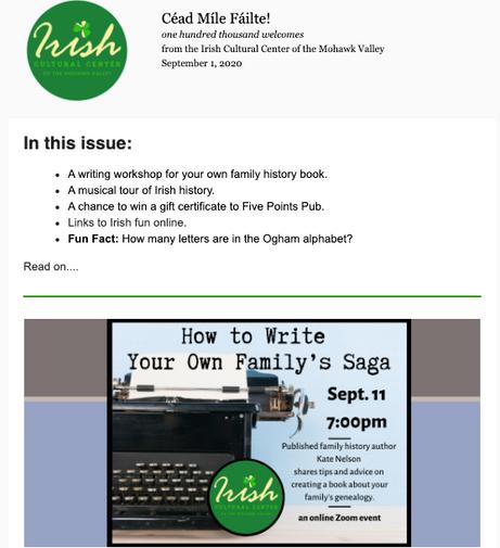 Newsletter sample ICC