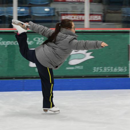 Special Olympians on Ice in Clinton, NY