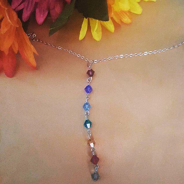 Gorgeous Swarovski crystal chakra neckla