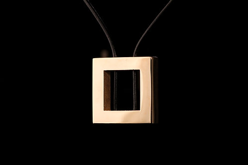 Bronze Square Frame Pendant