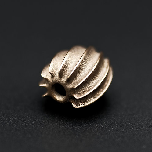 Swirl Pendant - Solid Raw Bronze