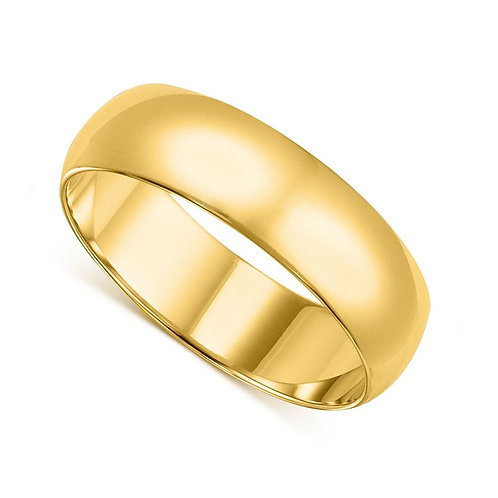 14k Yellow Gold 6-mm Standard-fit Polished Wedding Band