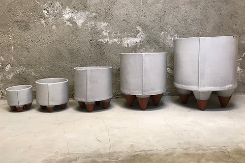 Slab Planters Satin White