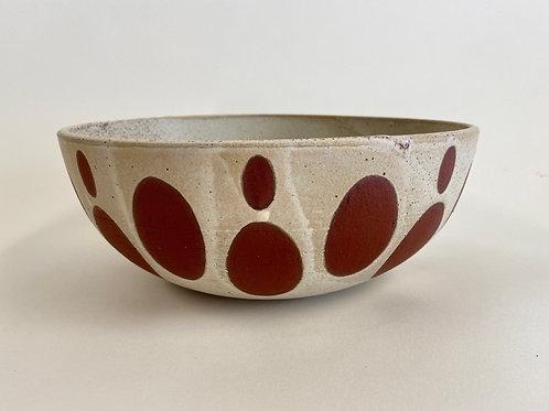 Oval Spot Serving Bowl
