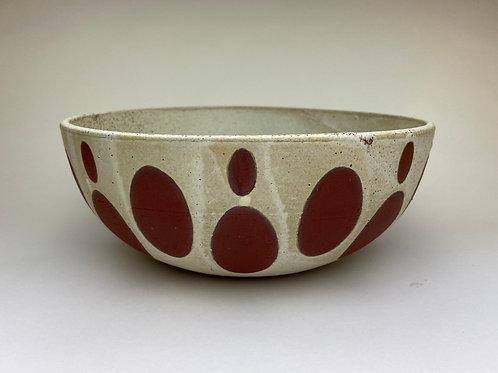 Oval Pattern Serving Bowl