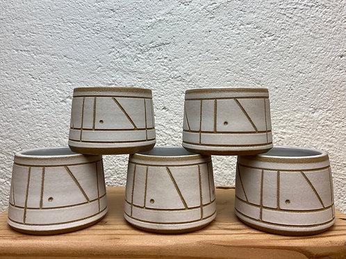 Geo Carved Tea Cup