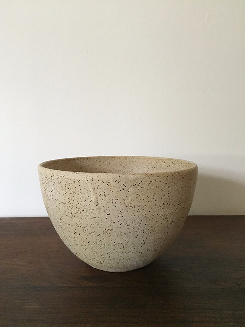 Small Speckled Stone Serving Bowl