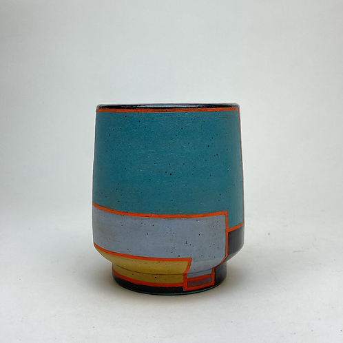 Turquoise Moonset Tea Cup Tumbler