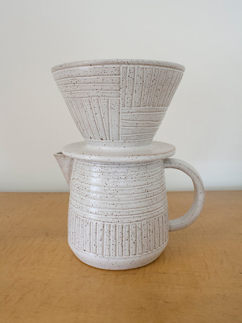 Speckled White Coffee Pourover