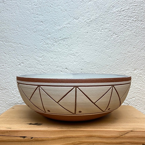 Line Through the Mountain Serving Bowl