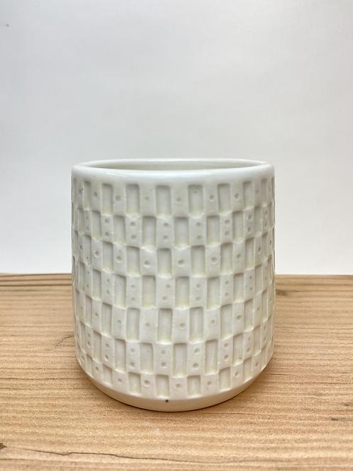 Binary Brick Beverage Box (round, ceramic)