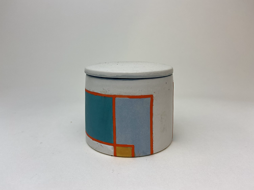 Color Blocked Stash Jar