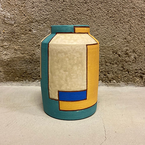 Color Blocked Vase