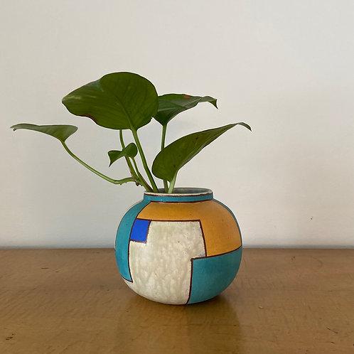 Moon Vase Color Blocked