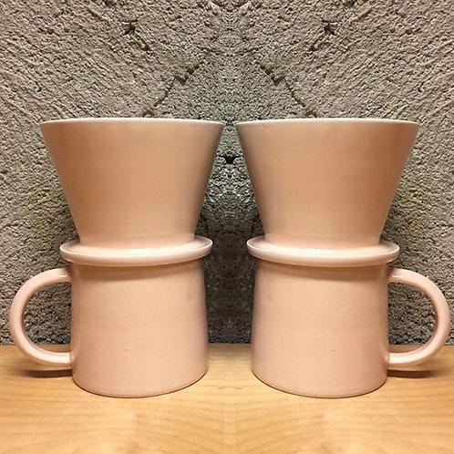Soft Blush Coffee Pour Over Set