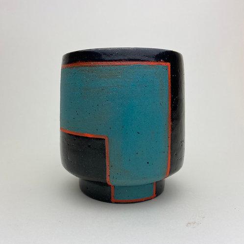 Color Blocked Tea Cup